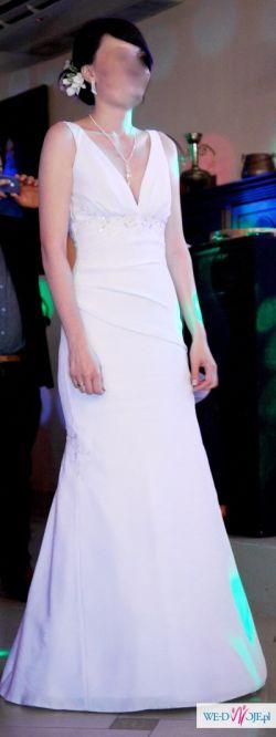 """sprzedam białą klasyczną suknię ślubną 38""""rybka"""""""