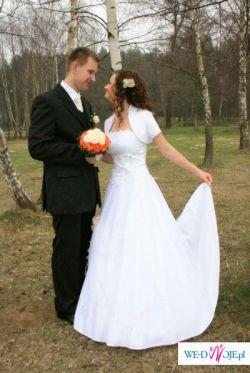 Sprzedam białą, śliczną suknię ślubną!