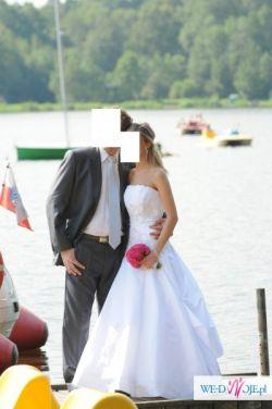 Sprzedam białą sukie ślubną