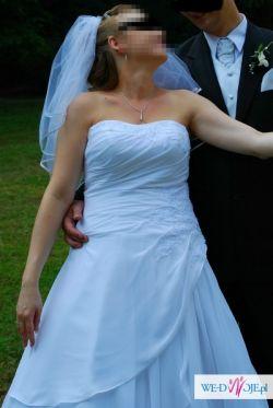Sprzedam białą suknię, rozmiar  38
