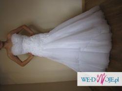 sprzedam biała suknię ślubną