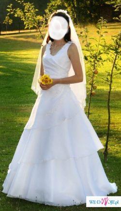 sprzedam białą suknię ślubną COSMOBELLA