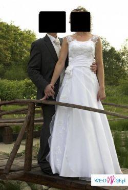 f4212a2279 Sprzedam białą suknię ślubną firmy NABLA z Krakowa rozm 36-38 ...