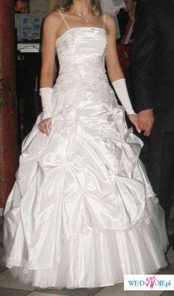 Sprzedam białą suknię ślubną r.38