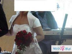 sprzedam białą suknię ślubną rozm 36/38 + dodatki !!