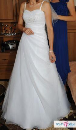 Sprzedam białą suknię ślubną rozm. 36/38 wzrost 166cm +7 cm