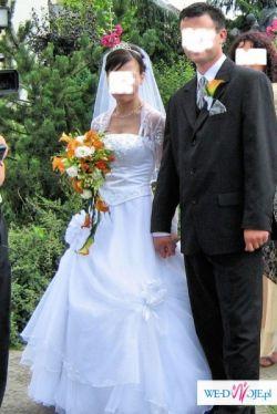 sprzedam białą suknię ślubną, rozm.38