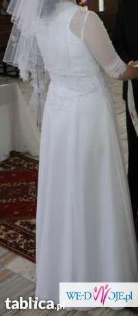 Sprzedam białą suknię ślubną rozm. ok. 44