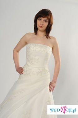 Sprzedam białą włoską suknię ślubną
