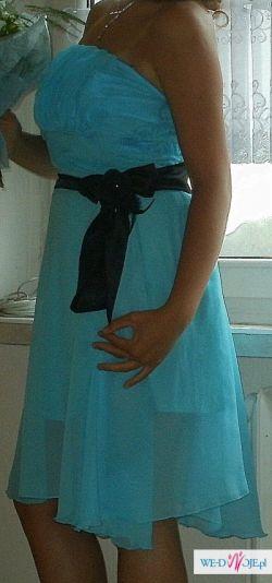 sprzedam błękitną sukienkę