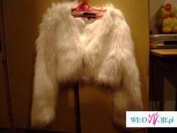 sprzedam bolerko ślubne białe z futerka!!!