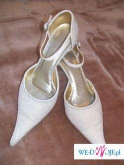 Sprzedam buty ślubne - ecru