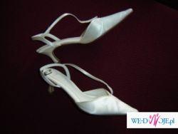 Sprzedam buty ślubne firmy ELSE  rozmiar 38, kolor ECRU, obcas 5,5cm