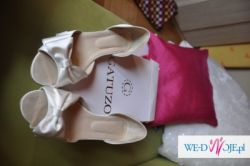 Sprzedam buty ślubne firmy GATUZO skóra i satyna rozmiar 41
