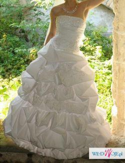 Sprzedam cudowną jednoczęściową suknie ślubną
