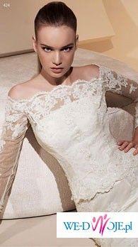 Sprzedam cudowną koronkową White One 424 + bolerko+halka+welon+pokrowiec