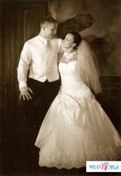 sprzedam cudowną suknie ślubną z salonu Jacqueline
