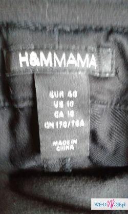 Sprzedam czarne rurki ciążowe H&M Mama r.40