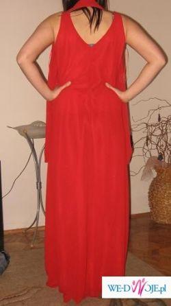 Sprzedam czerwona suknie wieczorowa rozm 42/44/46