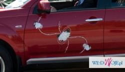 Sprzedam Dekorację AUTA samochodu na ślub białe storczyki