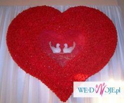 sprzedam dekorację sali weselnej - duże serce