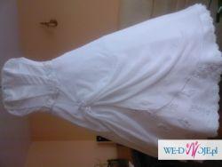 Sprzedam delikatnie zdobioną suknię ślubną