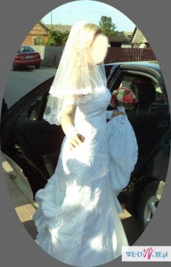Sprzedam dodatki ślubne oraz koronkową suknię ślubną -rozm 38-40
