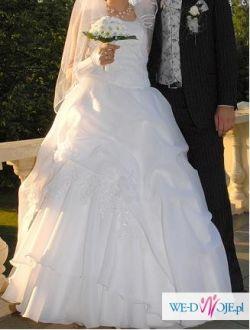 Sprzedam dwutygodniową białą suknię ślubną