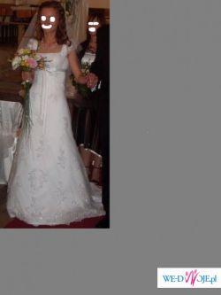 Sprzedam dziewczęcą suknię ślubną!