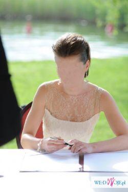 sprzedam ekskluzywną suknię ślubną