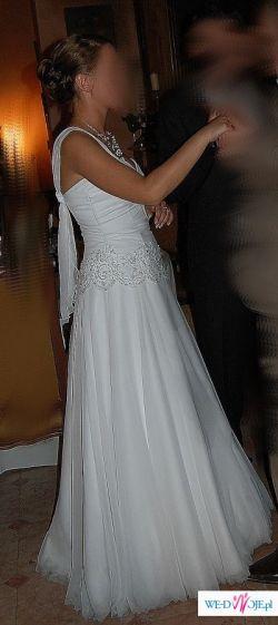 Sprzedam elegancką prostą suknię ślubną