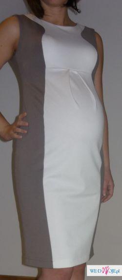 Sprzedam elegancką sukienkę ciążową marki Samira Elpasa-rozm.M