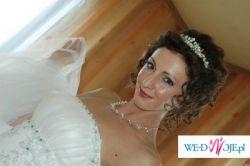 Sprzedam elegancką suknię ślubną 1500zł (+biżuteria +rękawiczki +bolerko GRATIS)