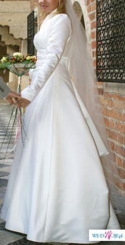 Sprzedam elegancką suknie ślubną francuskiej firmy Complicite Paris, r.42