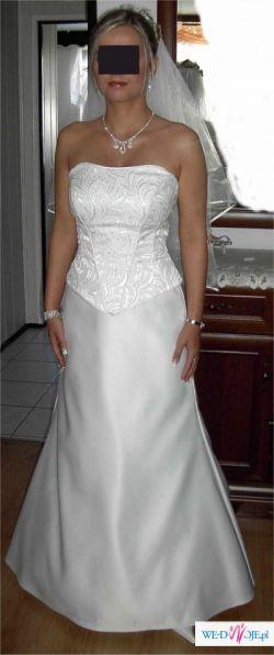 Sprzedam elegancką suknię ślubną r.36