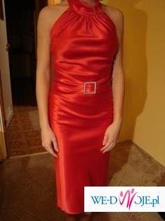 Sprzedam elegancką wieczorową sukienkę.
