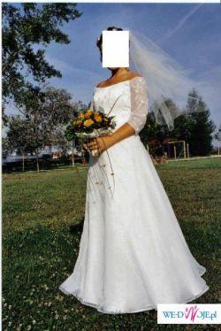 Sprzedam francuską suknię ślubną Mariees de Paris roz. 38/40 ecru