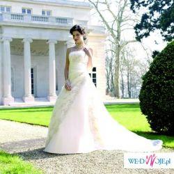 Sprzedam francuską suknię ślubną Miss Kelly LOREA kolekcja 2009 rozmiar 38 .