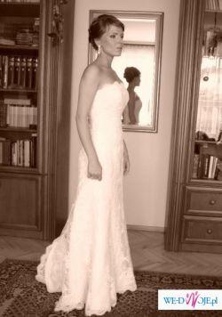 sprzedam hiszpańską suknię ślubną firmy white one model 176 z 2008 roku,38/176PL