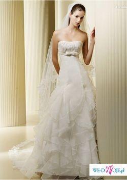 Sprzedam hiszpańską suknie ślubną La Sposa model Farbala