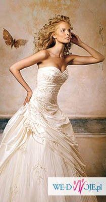 Sprzedam hiszpańską suknie ślubną Pronovias z kryształkami Swarovskiego