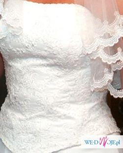 Sprzedam klasyczną, śnieżnobiałą suknię ślubną
