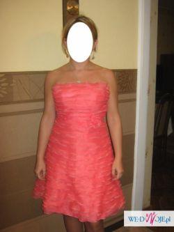 Sprzedam koralową sukienkę