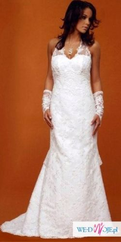 Sprzedam koronkową suknię ślubną marki Mercedes