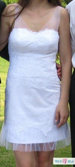 Sprzedam krótką sukienkę ślubną - biała