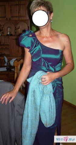 sprzedam lub wypożyczę Piękna długa suknia wieczorowa zieleń, zielona r. 38