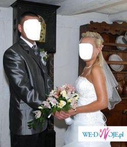 Sprzedam marynarkę ślubną z dodatkami