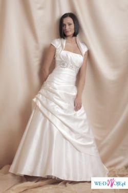 sprzedam niedrogo piękną, jednoczęściową suknie ślubną z kolekcji Ochocka 2009