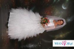 Sprzedam niedrogo suknię ślubną wg własnego projektu