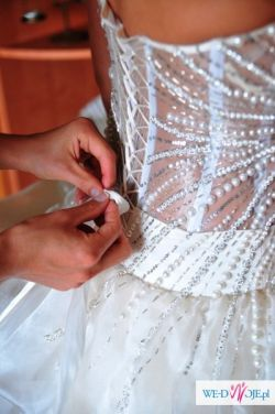 Sprzedam niesamowitą oryginalną suknię ślubną kupioną w USA